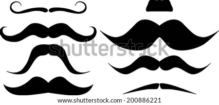 Mustache. Party collection. Vector Illustration. - stock vector