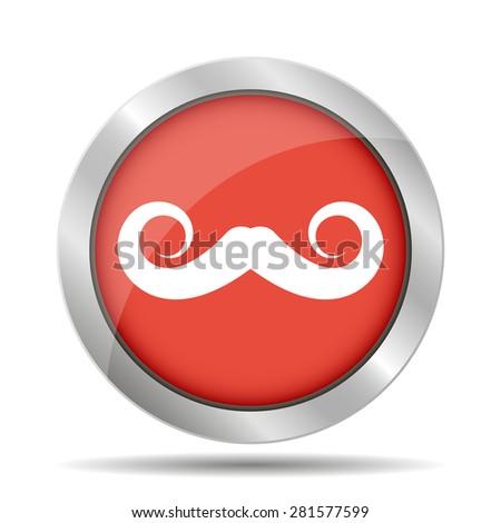mustaches vector icon, Vector flat Illustration EPS - stock vector