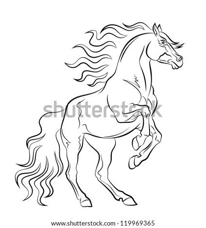 Mustang - stock vector