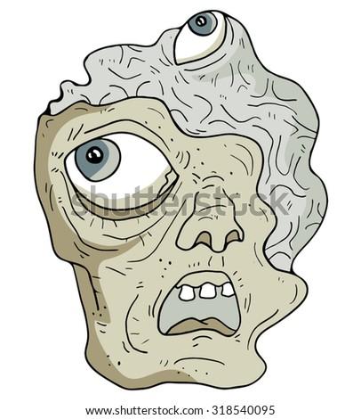 mutant face - stock vector