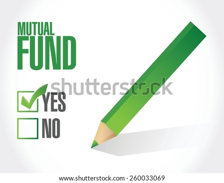 mutual fund check mark illustration design over a white background - stock vector