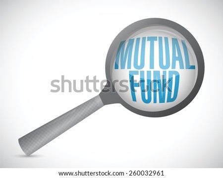 mutual fund review concept illustration design over a white background - stock vector