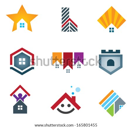 My beautiful home and house icons set vector illustration logo and icon - stock vector