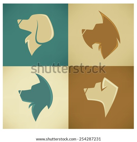 my favorite pet, vector dogs collection - stock vector