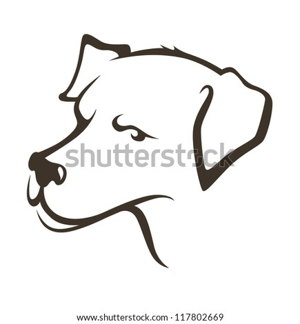 my favorite pet, vector image of lovely dog