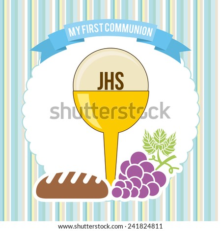 my first communion - stock vector