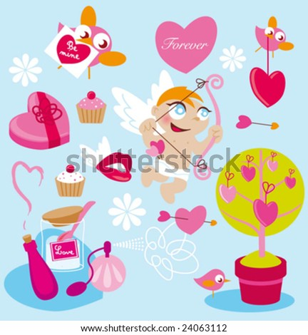 my sweet valentine - stock vector