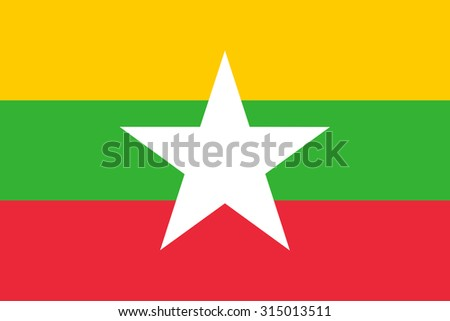 Myanmar or Burma Flag