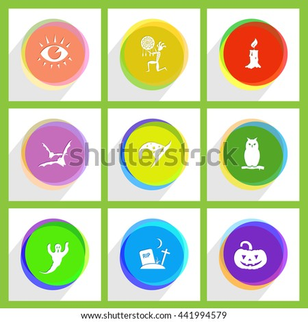 Mystic signs set. Internet template. Vector icons. - stock vector