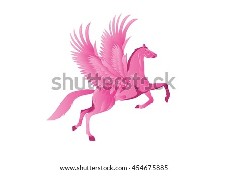 Mythical horse Pegasus, isolaterd vector illustration