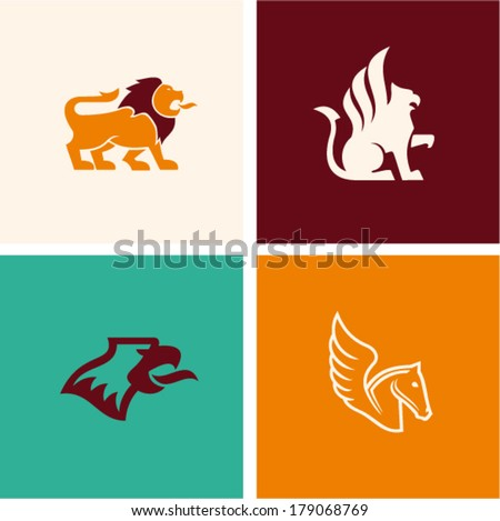 Mythology animal - stock vector