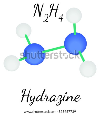 N2H4 Hydrazine molecule isolated on white