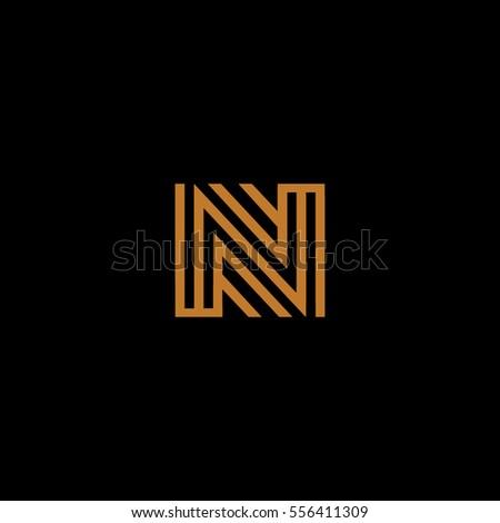 N Letter Based Icon For Interior Design