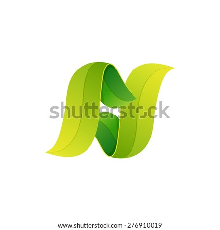 N letter logo, volume icon design template element  - stock vector