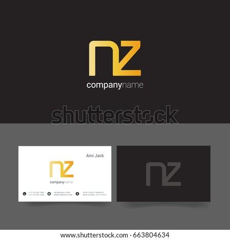 N z joint logo letter design stock vector 663804634 shutterstock n z joint logo letter design with business card template reheart Gallery