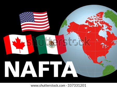 Nafta North American Free Trade Agreement Stock Vector Hd Royalty