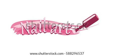 Nail art logo design stock vector 588296537 shutterstock nail art logo design prinsesfo Choice Image