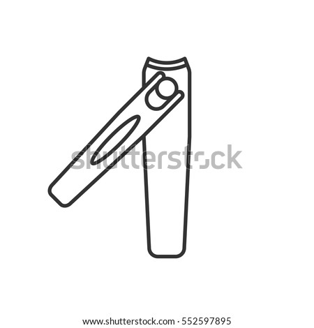 Drawing Nail Clipper Sketch Coloring Page