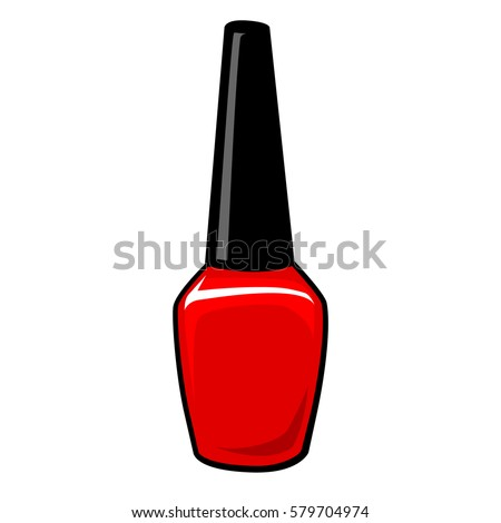Nail Polish Bottle Isolated On White Stock Vector HD (Royalty Free ...