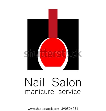 Nail Salon logo. Symbol of manicure. Design sign - nail care. Beauty industry, nail salon, manicure service, spa boutique, cosmetic products. Cosmetic label. Vector illustration. - stock vector