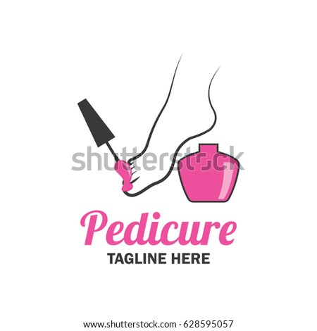 Nail Salon Manicure Pedicure Logo With Text Space For Your Slogan Tagline Vector Illustration