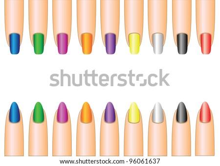nails - stock vector