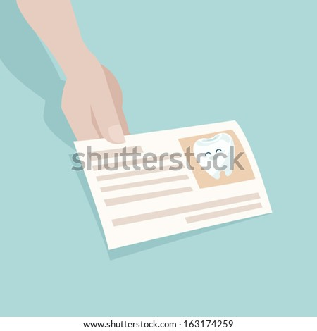 name card dentist - stock vector