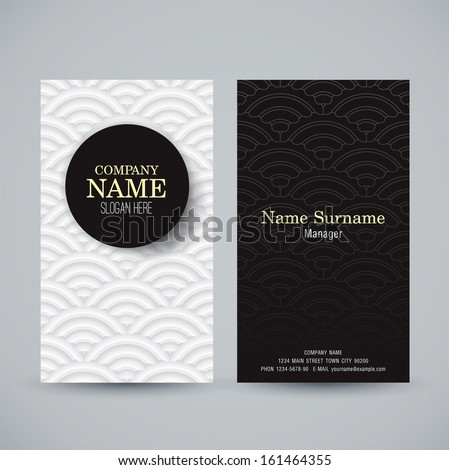 Name card design template. Business card vector illustration.  - stock vector