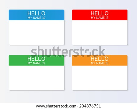 Nametag vector illustration - stock vector