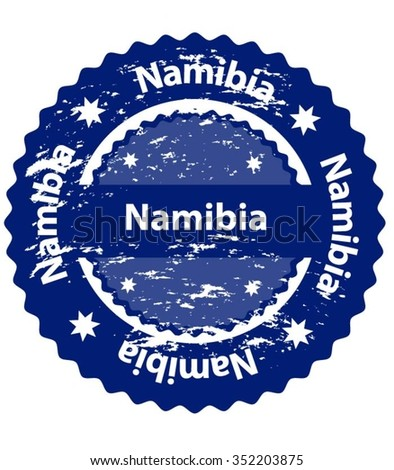Namibia Country Grunge Stamp - stock vector