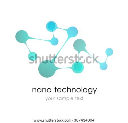 Nano Logo Nanotechnology Template Design Logo Stock Vector (2018 ...