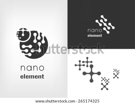 Nanotechnology logo design template - stock vector