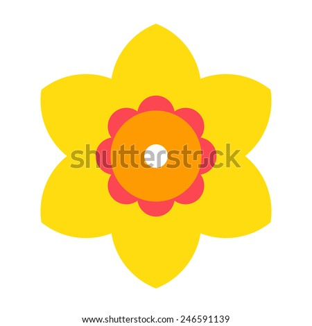 Narcissus - flower icon isolated on white background - stock vector