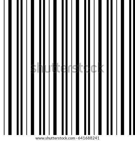 Narrow black white vertical lines symmetric geometric ornament striped seamless pattern abstract