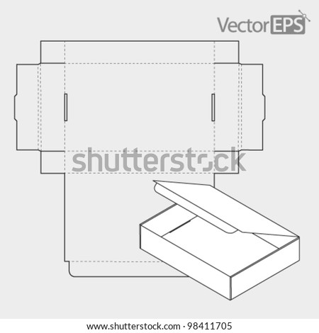 Narrow sealed box from the top - stock vector