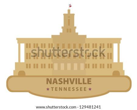 Nashville. Symbol city - stock vector