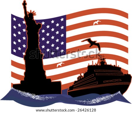 National American celebrities - stock vector