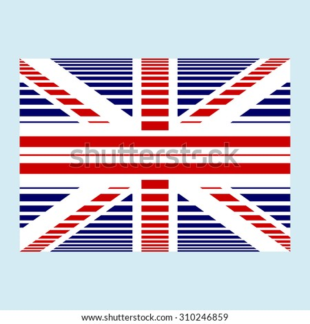 National British flag of the United Kingdom of Great Britain and Northern Ireland with correct proportions and color scheme with a texture. Vector - stock vector