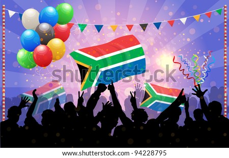 National Celebration Vector South Africa