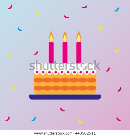 National Chocolate Cake Day. Vector. EPS10 - stock vector