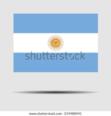 National flag of Argentina - stock vector