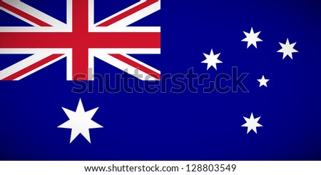 National flag of Australia with correct proportions and color scheme - stock vector