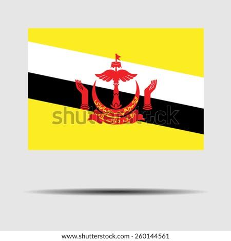 National flag of Brunei - stock vector