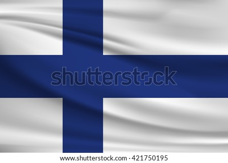 National flag of Finland - stock vector