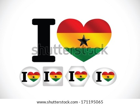 National flag of Ghana themes idea design