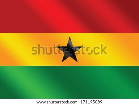 National flag of Ghana themes idea design - stock vector