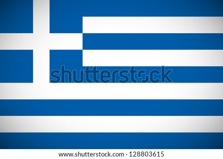 National flag of Greece with correct proportions and color scheme - stock vector