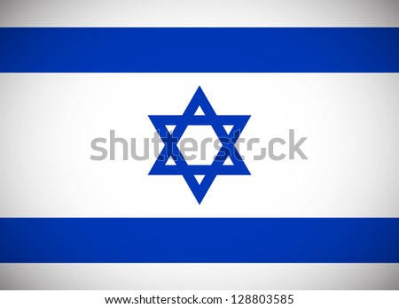 National flag of Israel with correct proportions and color scheme - stock vector