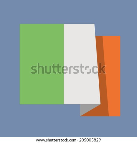 National flag of Italy,flat vector design - stock vector