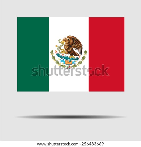 National flag of Mexico - stock vector